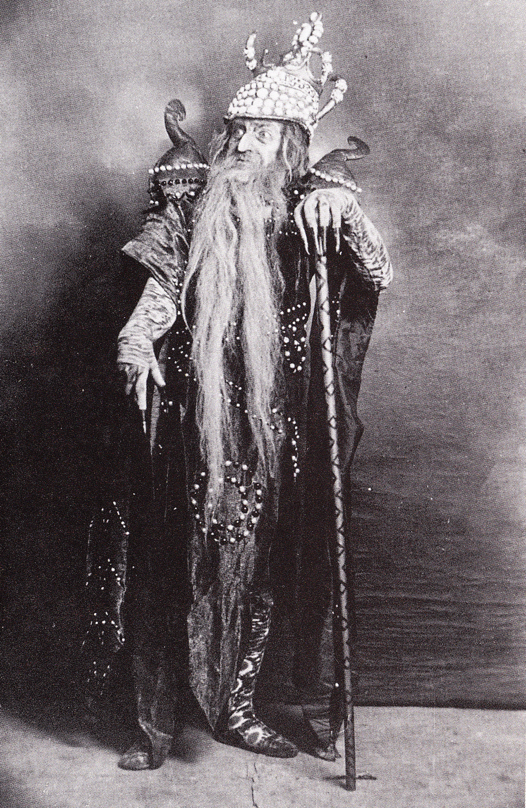 Cecchetti as Kastchei in 'The Firebird' Ballets Russes, 1910 (photo courtesy Livia Brillarelli)