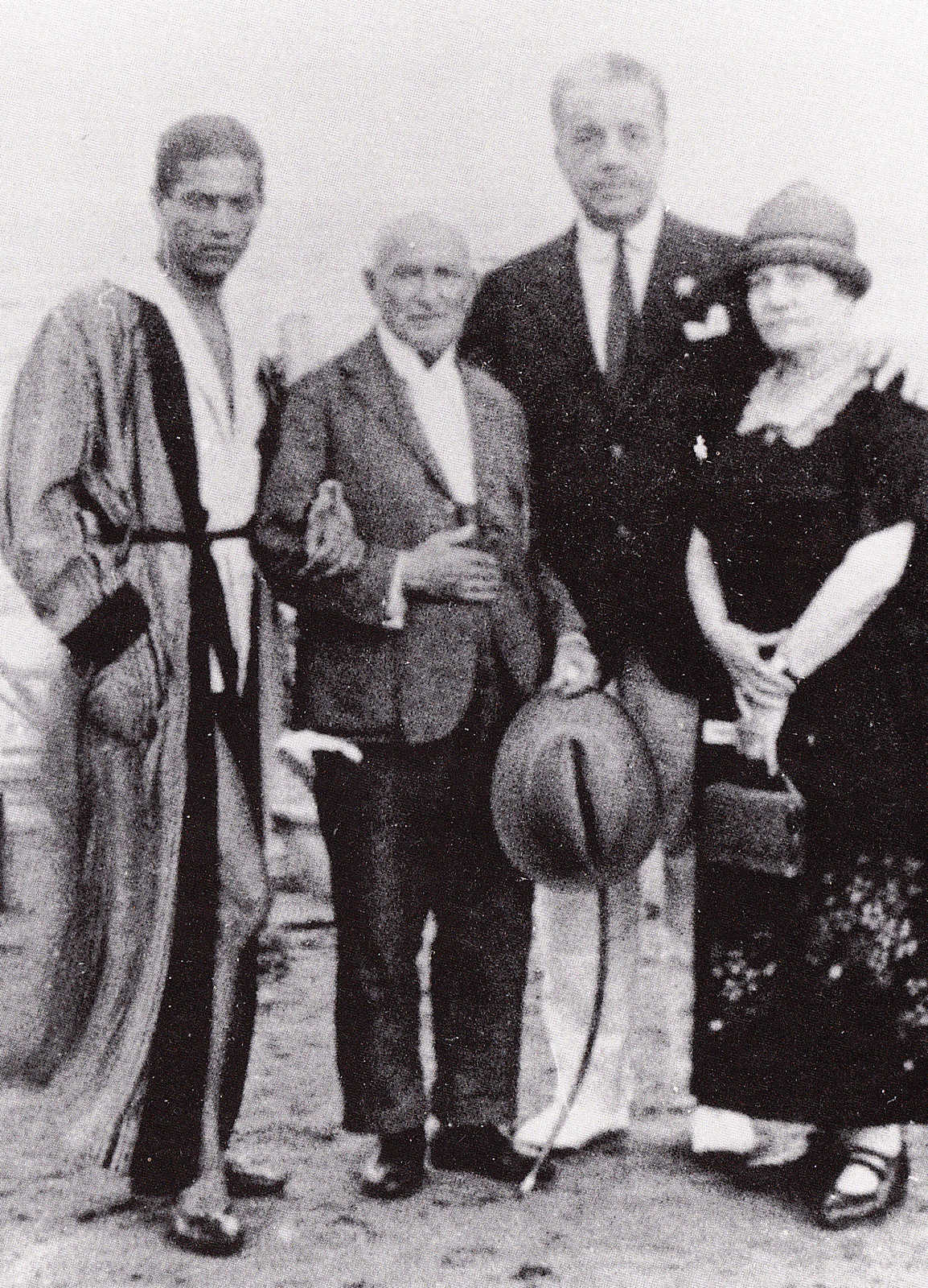 Cecchetti in Venice with Serge Lifar, Serge Diaghilev and Giuseppina Cecchetti circa1925 (photo courtesy Livia Brillarelli)