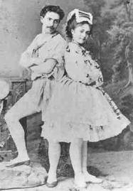 Cecchetti with his sister Pia, St. Petersburg 1874.