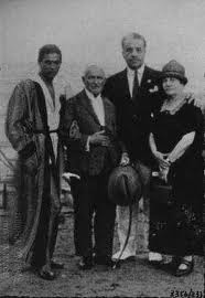 Cecchetti with his wife, Serge Lifar and Sergei Diaghilev in Venice, 1925