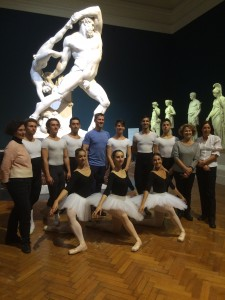 Doug Fullington with dancers and teachers at the National Museum of Modern Art in Rome, October 2015