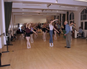 Cecchetti class with Richard GlasstonePhoto by Susan Reed taken during the Bournonville-Cecchetti-Escuela Bolera Easter Course at Highgate Ballet School called 'Glimpses into the Spanish World'